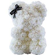 Rose Bear Biely medvedík z ruží 25 cm - Medvedík z ruží
