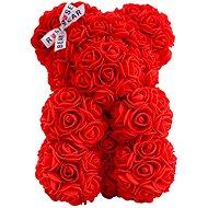 Rose Bear Červený medvedík z ruží 25 cm - Medvedík z ruží