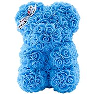 Rose Bear Svetlo modrý medvedík z ruží 25 cm - Medvedík z ruží