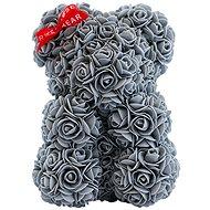 Rose Bear Sivý medvedík z ruží 25 cm - Medvedík z ruží