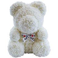 Rose Bear Biely medvedík z ruží 38 cm - Medvedík z ruží