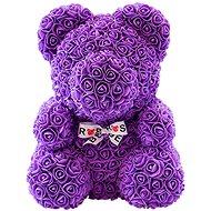 Rose Bear Fialový medvedík z ruží 38 cm - Medvedík z ruží