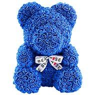 Rose Bear Modrý medvedík z ruží 38 cm - Medvedík z ruží