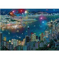 Schmidt Puzzle Ohňostroj nad Hongkongom 1000 dielikov - Puzzle