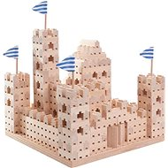 Drevená stavebnica Buko – veľký hrad 542 dielov - Drevená stavebnica
