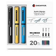 Sheaffer Calligraphy, Maxi Kit 2019, čierne, žlté, modré - Plniace pero