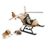 Schleich 42476 Záchranný vrtuľník pre zvieratá - Doplnky k figúrkam