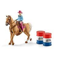 Schleich 41417 Osedlaný kôň s kovbojkou - Figúrka