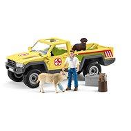 Schleich 42503 Záchranné terénne auto s veterinárom - Figúrky