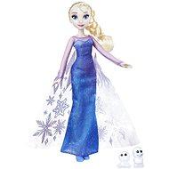 Frozen bábika Elsa s trblietavými šatami a kamarátom - Herný set