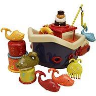 B-Toys Loď s kapitánom Fish & Splish - Hračka do vody