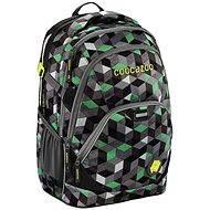 CoocaZoo EvverClevver 2 Crazy Cubes Green - Školský batoh