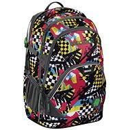 CoocaZoo EvverClevver 2 Checkered Bolts Blue - Školský batoh