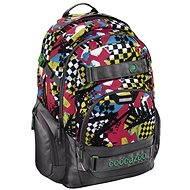 CoocaZoo CarryLarry 2 Checkered Bolts - Školský batoh