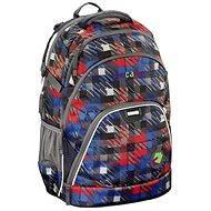 CoocaZoo EvverClevver Dope Square Red - Školský batoh