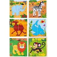 Woody Kubus 2 × 2 Safari - Obrázkové kocky