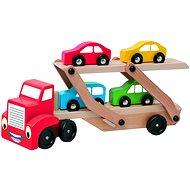 Woody Ťahač s návesom na prepravu áut - Didaktická hračka