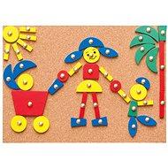 Woody Doska s pribíjacími tvarmi - Didaktická hračka