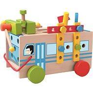 Woody Montážny autobus s náradím - Didaktická hračka