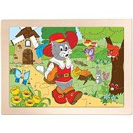 Woody Puzzle Kocúr v čižmách - Puzzle