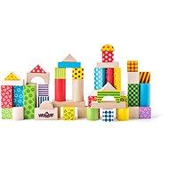 Woody Stavebnica farebné kocky - Stavebnica