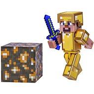 Minecraft Steve v zlatej zbroji - Figúrka