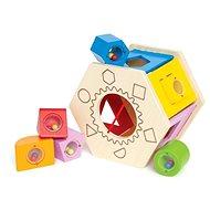 Hape Škatuľka na vkladanie geometrických tvarov - Drevená hračka