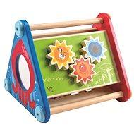 Hape Veselý didaktický trojúholník s aktivitami - Drevená hračka