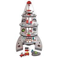 Hape Štvorposchodová vesmírna raketa - Drevená hračka