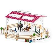 Schleich Jazdecká škola s jazdcami a koňmi - Herná sada