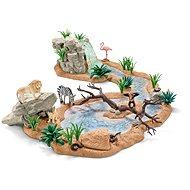 Schleich Zvierací svet pri vodopáde - Herný set