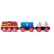 Woody Diesel lokomotíva s nákladným vlakom - Príslušenstvo k vláčikodráhe