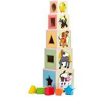 Woody Veža z 5-tich kociek Zvieratká - Stavebnica