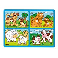 Woody Domáce zvieratá s mláďatami - Puzzle