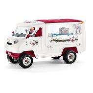 Schleich Mobilná veterinárska klinika s kobylou a ošetrovateľom - Herný set