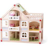 Woody Domček dvojposchodový s balkónom a príslušentsvom - Domček pre bábiky