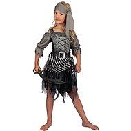 Pirátske dievča – sivé - Detský kostým