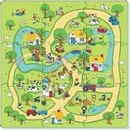 Puzzle – koberec farma 9 ks - Puzzle
