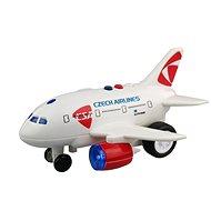 Lietadlo ČSA s hlásením kapitána a letušky - Lietadlo