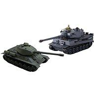 Sada bojujících tanků Tiger vs T34/85 - Tank na diaľkové ovládanie