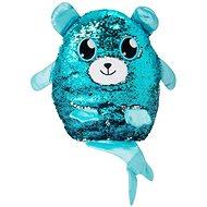 Glitter Palz – veľký medvedík s chvostíkom – modro-strieborný