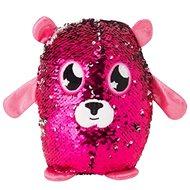 Flitrový medvedík – ružový - Figúrka