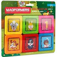 Magformers Kartičky zvieratká - Magnetická stavebnica