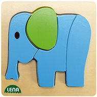 Lena Drevené puzzle – slon - Puzzle