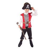 Kostým pirát s klobúkom veľ. M - Detský kostým