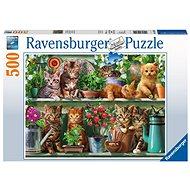 Ravensburger 148240 Mačky na knižnici - Puzzle