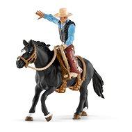 Schleich 41416 Osedlaný kôň s kovbojom