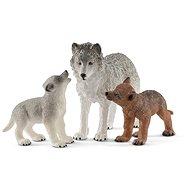 Schleich 42472 Vlčica a mláďa vlka - Figúrka