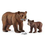 Schleich 42473 Medvedica Grizzly s mláďaťom - Figúrka