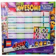 LEGO Rozvrh hodín s nálepkami - Školská pomôcka